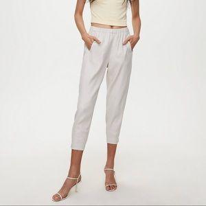 White Linen Babaton Dexter Pants from Aritzia